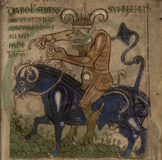 Medieval Demon on Horse