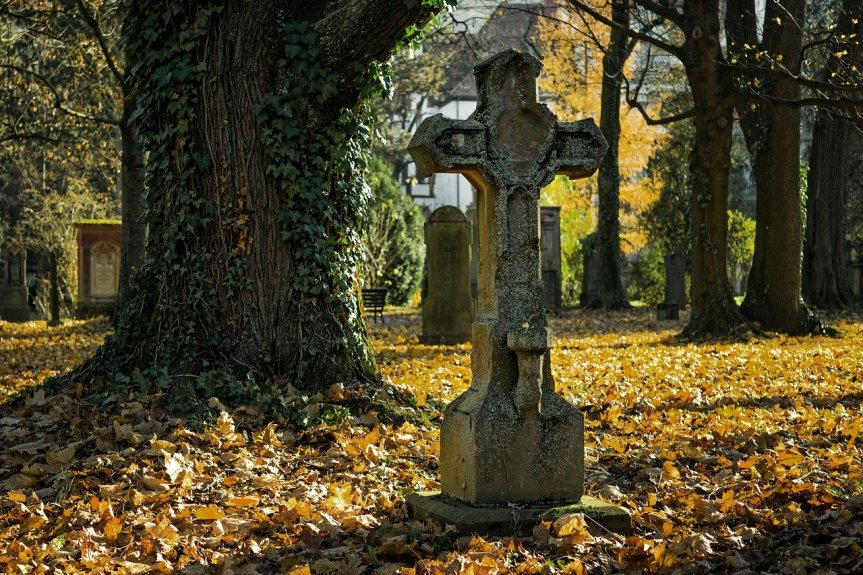 Tombstones in Autumn by Pexels on Pixabay