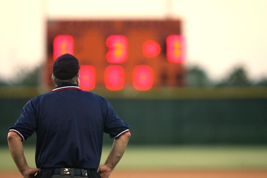 Baaseball Umpire by KeithJJ on Pixabay