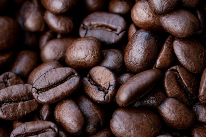 Coffee Beans Closeup by NickyPe on Pixabay